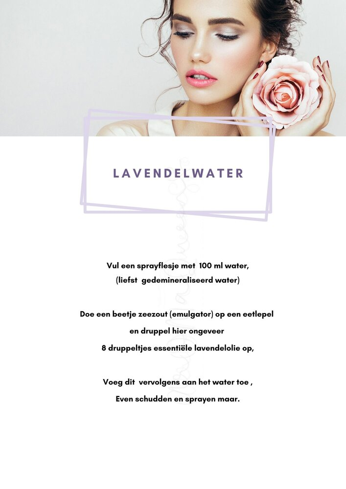 lavendelwater recept