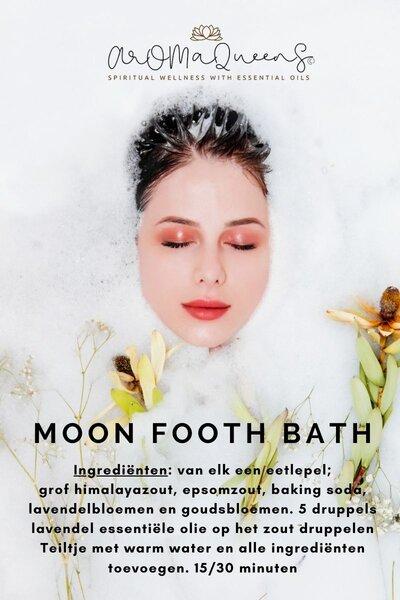 moon footh bath recept aromaqueens